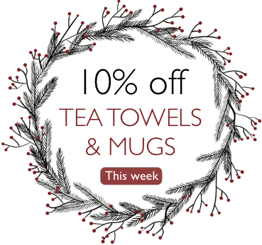 January Sale - 10% off Photo Mugs & Tea Towels this week